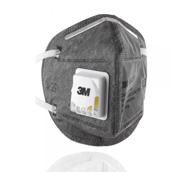 20x 3M 9541V, Atemschutzmaske, mit belüftetem KN95 Standard