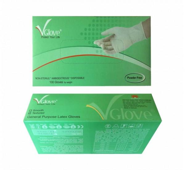 Latex Untersuchungshandschuhe 1x Karton (1000) *Premium* nicht-steril (weiß)
